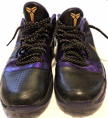 finest selection 32172 7d1f1 Nike Zoom Kobe 5 V Black Del Sol Varsity Purple Lakers, size 10.5
