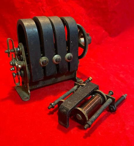 Genuine antique hand-cranked magneto generator, c. 1925