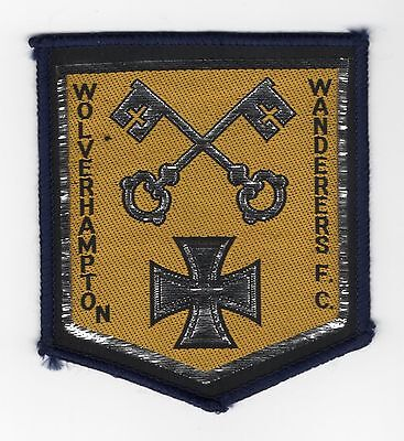 Original Vintage 1970s Sew On Patch Wolverhampton Wanderers Cloth Badge Unused for sale  Shipping to Ireland