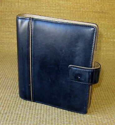 Compact 1 Rings Blacktan Leather Franklin Covey Open Plannerbinder