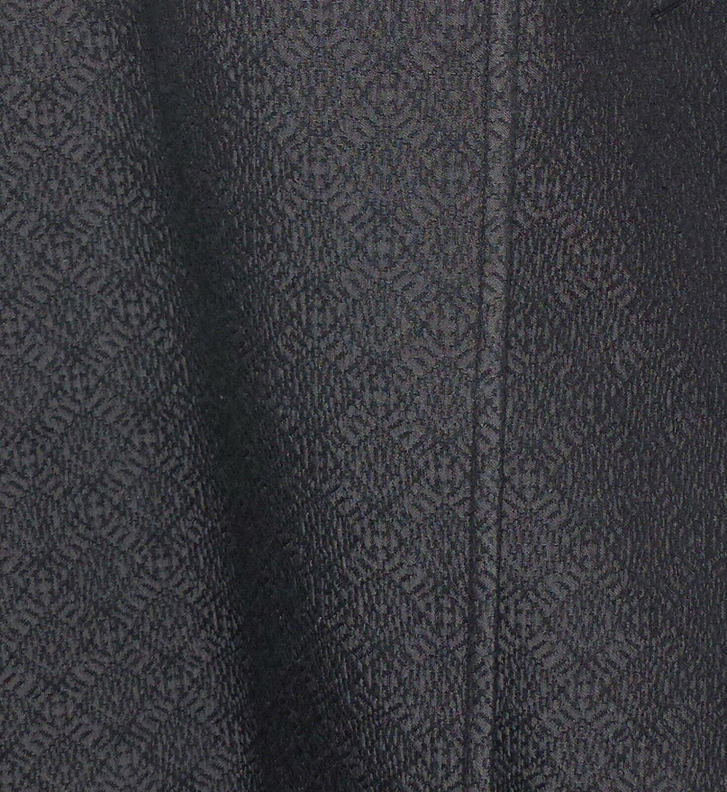 Celine - manteau floquÉ motifs gris anthracite - celine coat