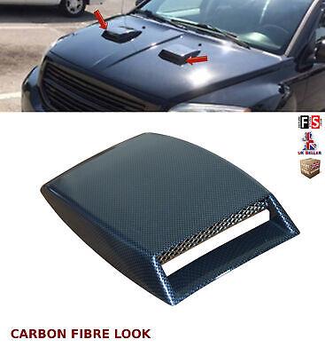 UNIVERSAL DECORATIVE AIR FLOW INTAKE BONNET VENT COVER HOOD CARBON FIBRE-WSF1