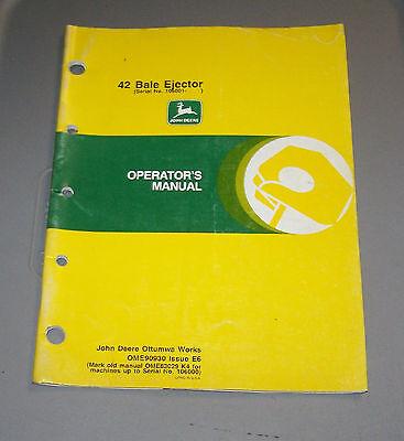 John Deere 42 Bale Ejector Operators Manual OME90930 E6 Used B4