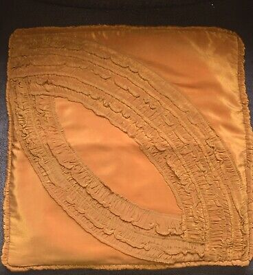 Art Deco Vintage / Antique Art Silk  Ruched Cushion Cover  20