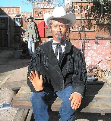 Cowboy Mannequin Buffalo Bill Handmade Folk Art Articulated Life Size Prop