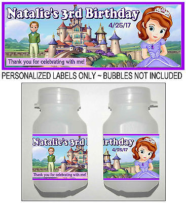 First Birthday Favors (30 DISNEY SOFIA THE FIRST BIRTHDAY PARTY FAVORS BUBBLE)