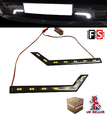 DRL LED DAYTIME RUNNING LIGHTS-PAIR 7 LED LAMPS-WATERPROOF FRD2