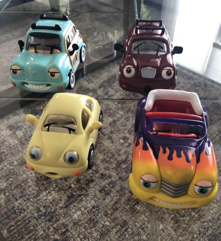 Lot of 4 The Chevron Cars - Woody Wagon, Hank Hot Rod, Bailey Bouncer & Nando