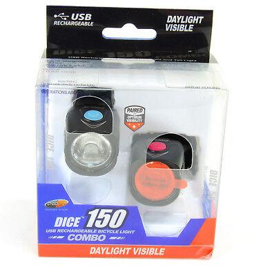 Cygolite DICE 150 & 50 Bicycle Headlight & Tail Light Combo Set USB
