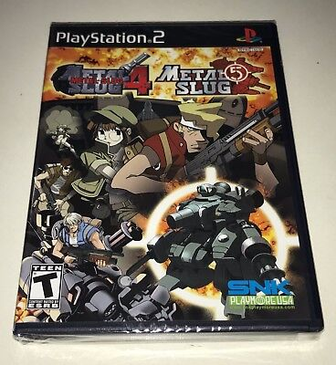 Metal Slug 4 and 5 for Sony Playstation 2 PS2 Video Game New Sealed - Metal Slug Playstation 2