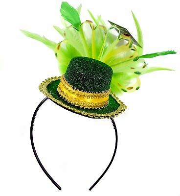 St. Patrick's Day Feathered Headband Saint Hairband Accessories - One - St Patrick's Day Accessories