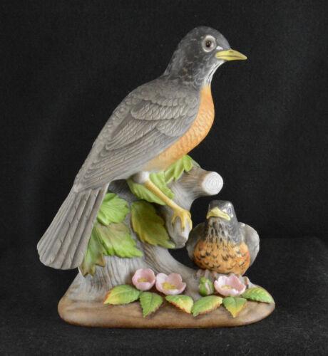 """Holland Mold Ceramic Robin & Fledging (8 1/4"""" Tall)"""