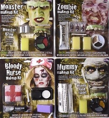 HALLOWEEN – BLOODY MAKEUP & APPLIANCE KITS - MUMMY NURSE ZOMBIE MONSTER - NIP - Halloween Makeup Zombie Nurse