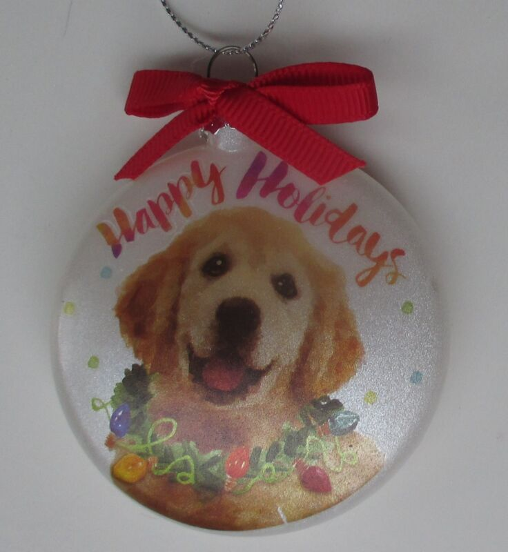 AB Golden retriever happy FURRY FRIENDS DOG LOVER ORNAMENT Ganz Christmas