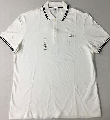 Lacoste Men Slim Fit Polo PH8256 White Size 7 / XXL