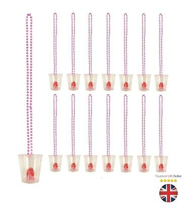 HEN PARTY SHOT GLASSES FUN DRINKING GAME TEAM BRIDE ACCESSORIES UK (Fun Party Glasses)