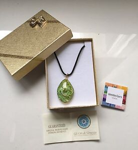 $25! Murano glass pendant on necklace genuine - new never worn North Sydney North Sydney Area Preview
