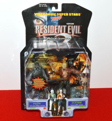 Resident Evil 2 Platinum Hunk Zombie Figure Set Capcom ToyBiz Video Game Sealed