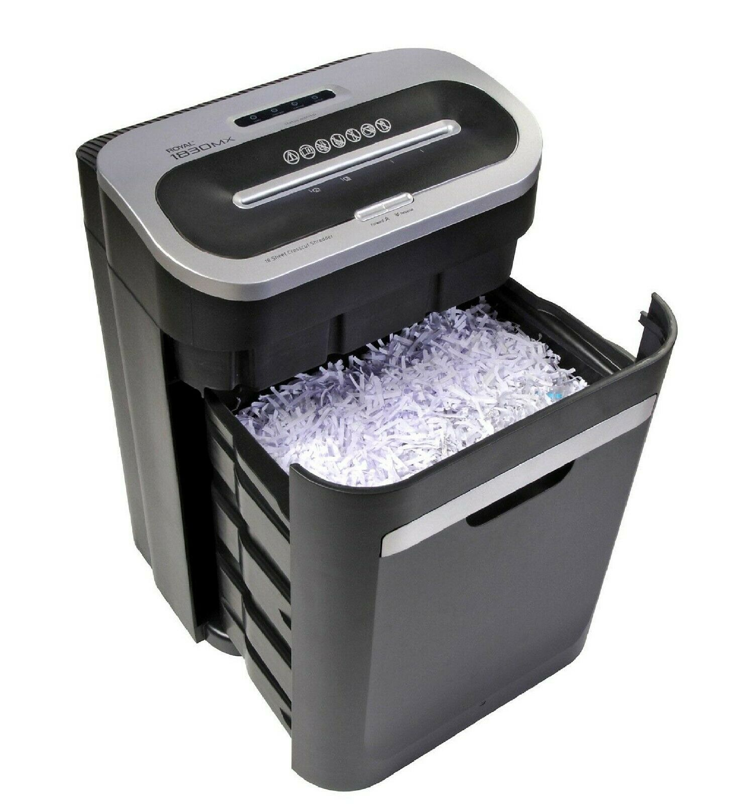 Photo Royal 18 Sheet Cross-Cut Paper Shredder Heavy-Duty Large Capacity 1830MX