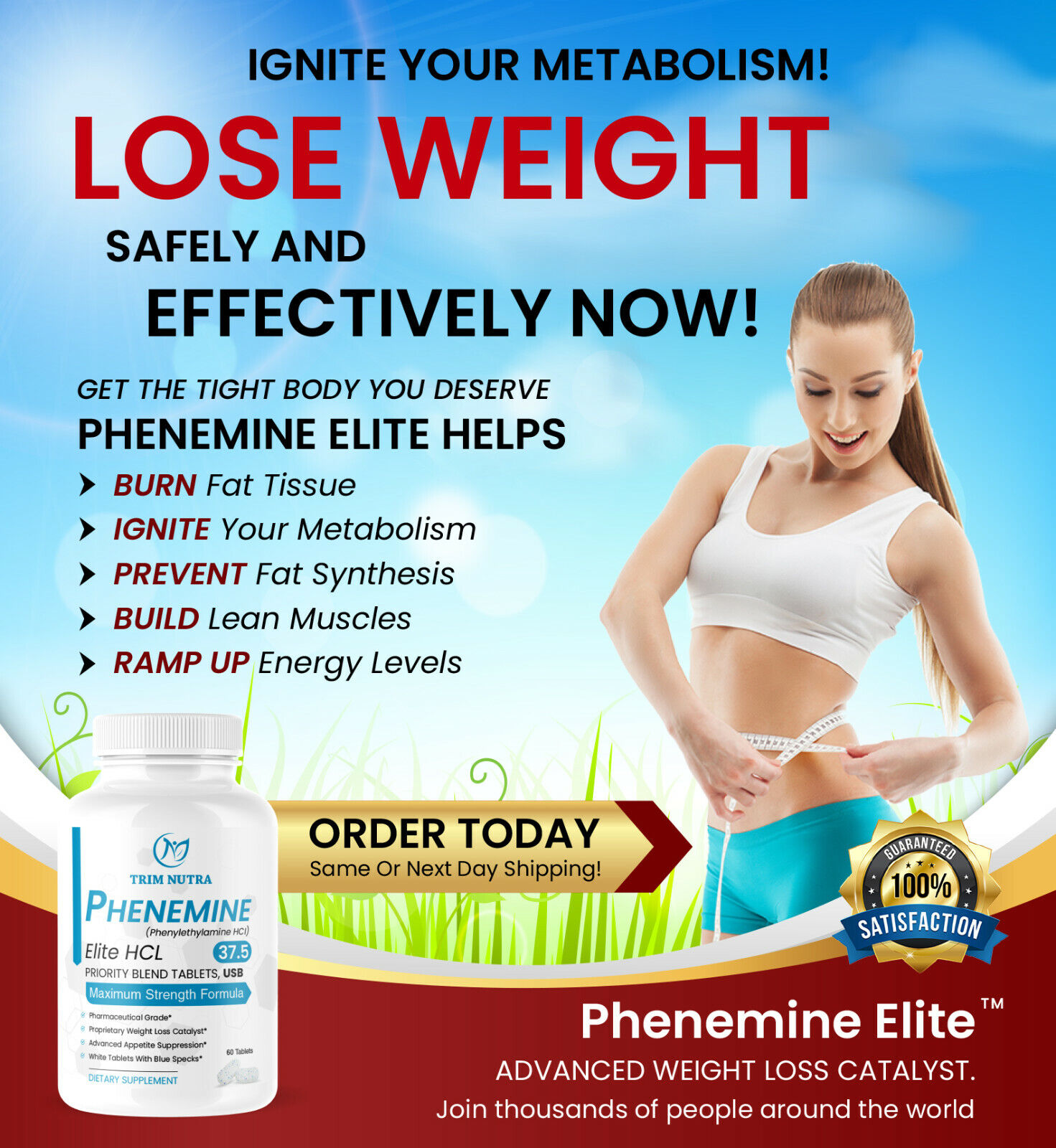 2 Phenemine Elite White/Blue Burn Fat Burners 375 P Faster Weight Loss  Pills 3