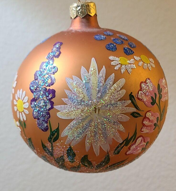 "Christopher Radko ""English Garden""  96-199-0 Christmas Ball"