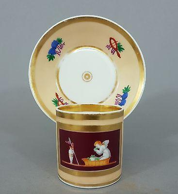 Klassizistische Vitrinentasse mit Putto, Tasse um 1800, wohl Böhmen #2