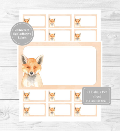 Fox 42 Self Adhesive Stickers, Blank For Address Labels/Gift Tags/Party Bags