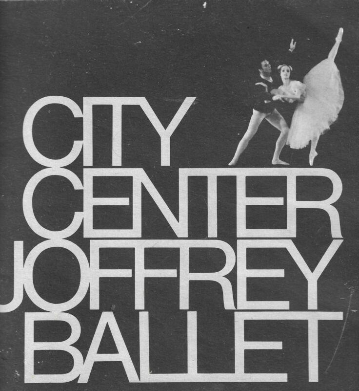 City Center Joffrey Ballet Memorial Program Book