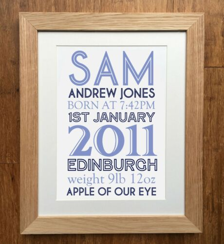 Personalised Birth Details Print - PRINT ONLY - Beautiful - Unique PERFECT GIFT