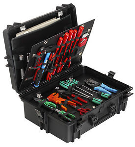 Hard Plastic Engineer's/Electrician's Waterproof Tool Box Carry Case (MAX505PU)