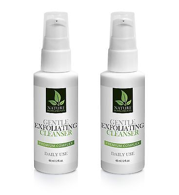 Green tea extract - GENTLE EXFOLIATING CLEANSER COMPLEX 60ml/2fl - 2 Bottles