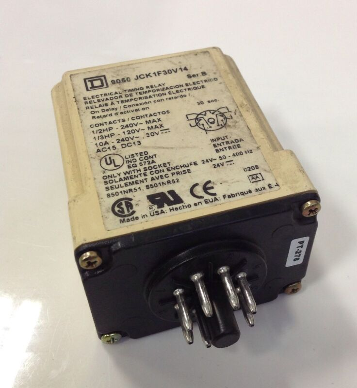SQUARE D TIMING RELAY SER B  9050 JCK1F30V14 *PZB*