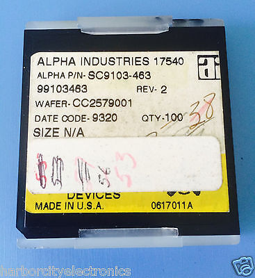 Sc9103-463 Alpha Industries Capacitor Chip Rf Microwave Product 53units Total