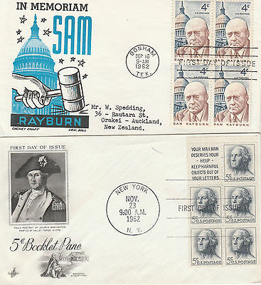 collection of  old us first day covers 1958-1962