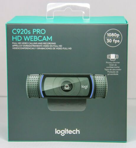 Logitech C920s Pro HD 1080p Webcam with Privacy Shutter IN HAND SHIPS NOW