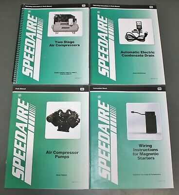 Speedaire Operating Instructions Parts Manual For Air Compressor 35wc86 35wc69