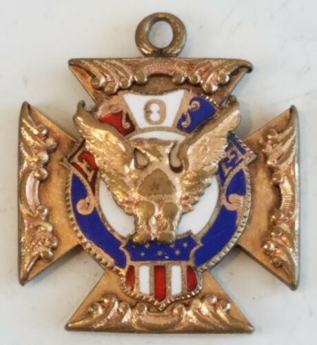 Antique FOE Eagle Watch Fob Gold Charm Fraternal Order Rare Old