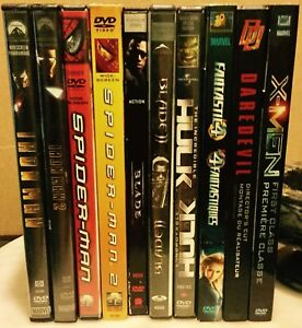 Marvel movies *lot of 10 DVDs