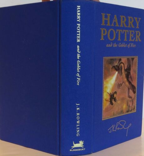 J.k. Rowling Harry Potter And The Goblet Of Fire First Signed Deluxe Uk Edition