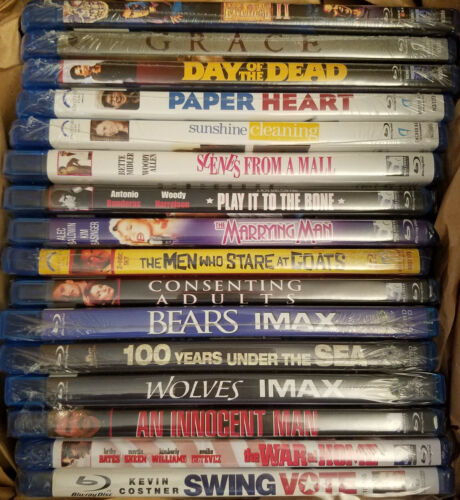 Big lot of 16 new Blu-ray movies all sealed drama horror documentaries comedy!
