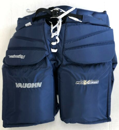 "Vaughn V Elite XR Pro Carbon goalie pants Sr small 30"" senior hockey navy blue"