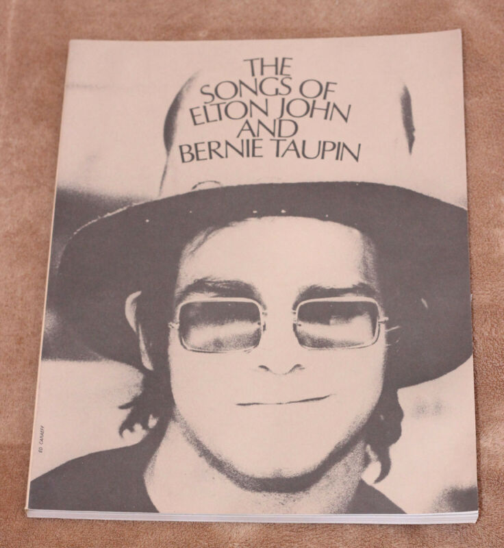 Songs of Elton John & Bernie Taupin - 1971 sheet music song book piano Your Song