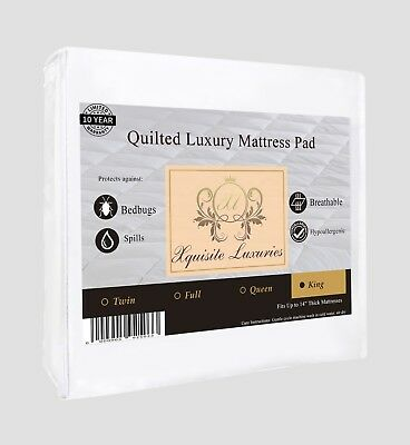 Quilted Mattress Covers - King IRREGULAR SIZE Quilted Mattress Cover Protector - Xquisite Luxuries