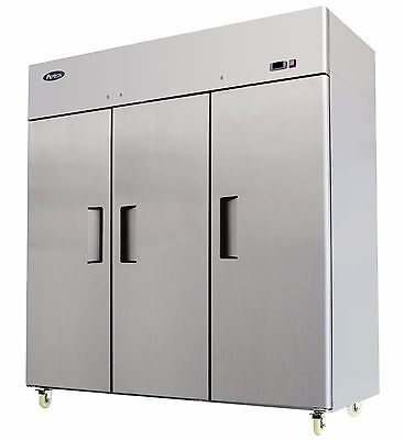 Atosa Mbf8003 Three 3 Door Stainless Steel Commercial Freezer Upright Top Mount