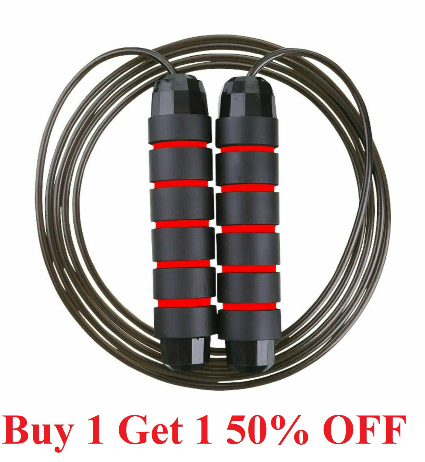 Jump Rope Gym Aerobic Exercise Boxing Skipping  Adjustable Bearing Speed Fitness Fitness Equipment & Gear