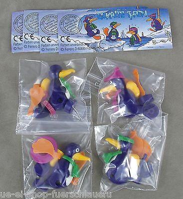 Komplettsatz Eiskalte Typen mit allen Zetteln 1996 UeEi Pinguine Tiere Ferrero