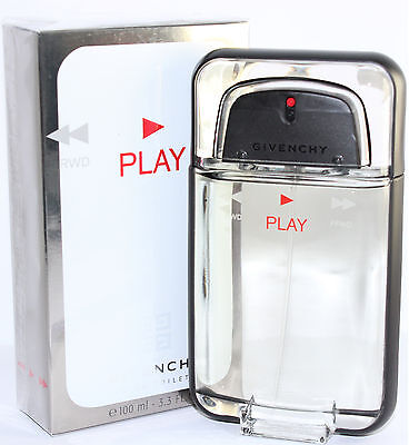 Play by Givenchy For Men Eau De Toilette 3.4/3.3 OZ 100 ML Spray New Box