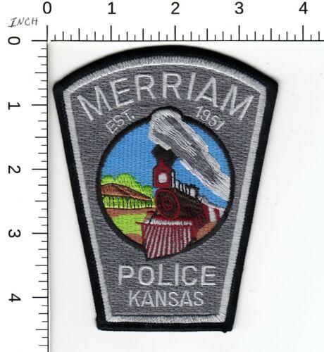 MERRIAM POLICE KANSAS (TRAIN SCENE) SHOULDER PATCH KS