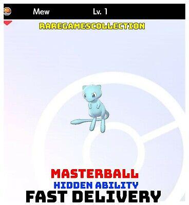 Pokemon Sword Shield ✨ SHINY ✨ 1️⃣ MEW 6IV FAST DELIVERY
