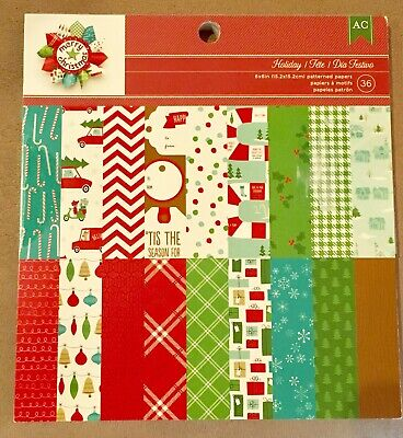 6 x 6 American Crafts Holiday Christmas Winter Snow Ski Scrapbook Paper Pad](Paper Christmas Crafts)